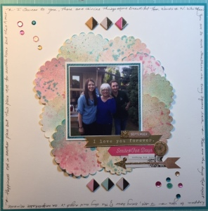 My most recent layout up on my YouTube channel at Mari Clarke