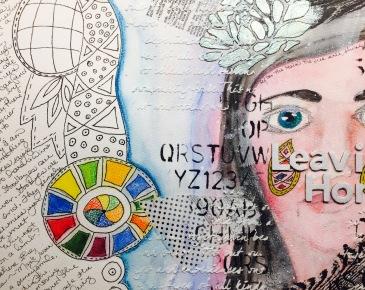 art journal leaving home 1