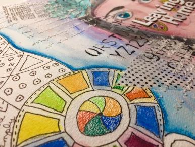 Art journal leaving home 2